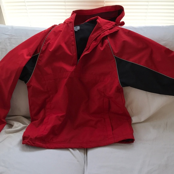 36a2736f29d1 Champion Other - Champion red and black half zip windbreaker